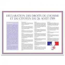 Déclaration des droits de l'Homme et du Citoyen (plaque extérieure)