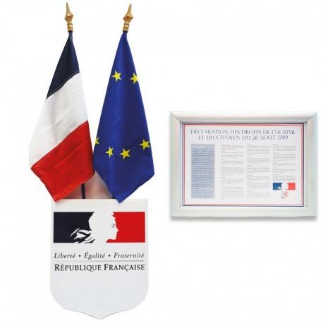 Kit complet de pavoisement des écoles (50x60 cm)
