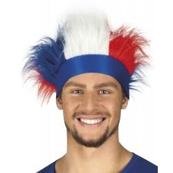 Bandeau France avec cheveux tricolores