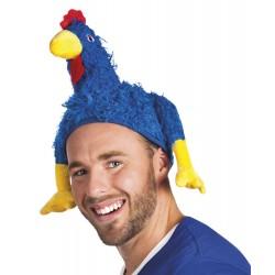 Chapeau-coq bleu pour supporter français