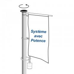 Mât cylindrique avec système rotatif