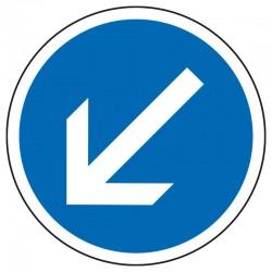 Obligation de contourner par la gauche