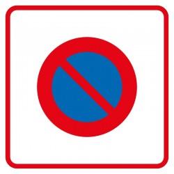 Début d'une zone à stationnement interdit