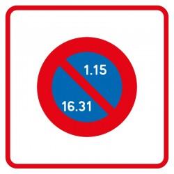 Début de zone à stationnement unilatéral à alternance semi-mensuelle
