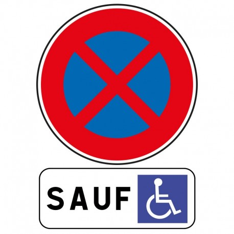 stationnement ou arr t interdit sauf pour personnes mobilit r duite. Black Bedroom Furniture Sets. Home Design Ideas