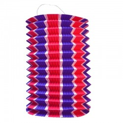 Lanternes cylindriques - Ø 13 cm - Tricolores