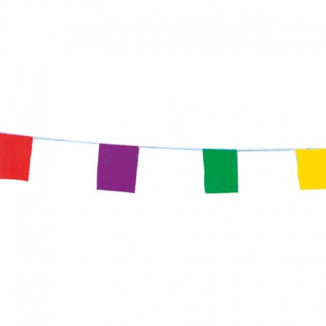 Guirlande tissu - Unicolore - Pavillons assortis