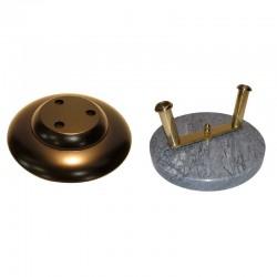 Socle d'intérieur pour hampe en bois ou cuivre