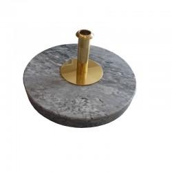Socle marbre de 1 à 3 places - 30 cm de diamètre avec adaptateur