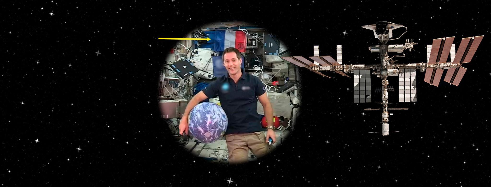 Drapeaux Unic dans l'espace