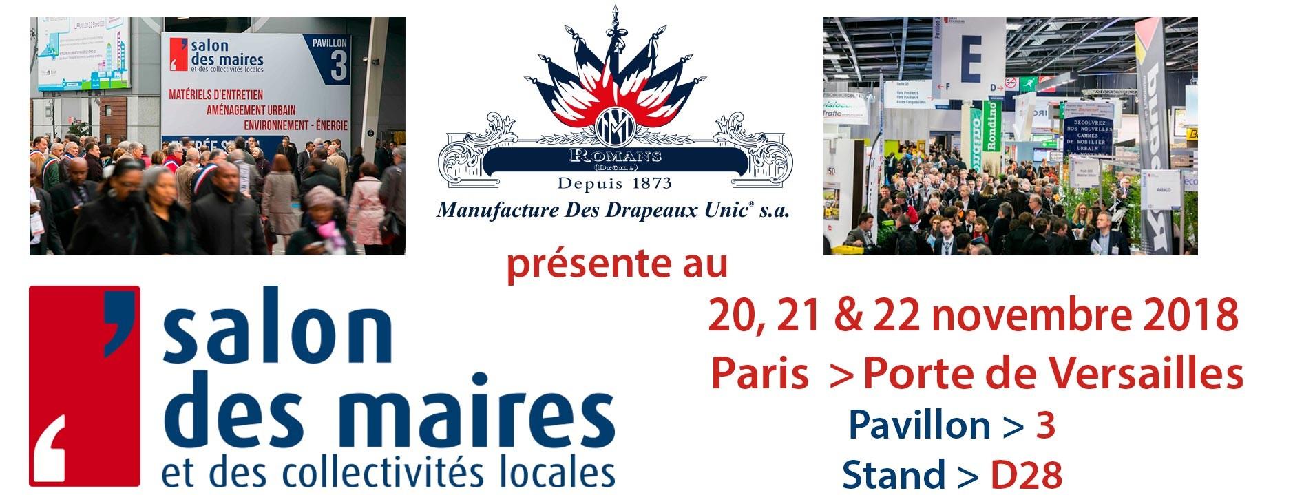 Retrouvez nous au salon des Maires à Paris Porte de Versailles