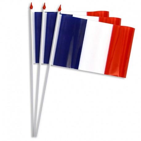 Drapeaux de table plastique - France - 20 x 30 cm