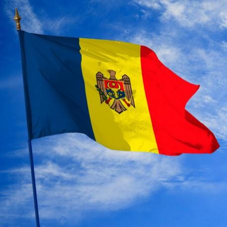 Drapeau Moldavie dans drapeau des pays Unic