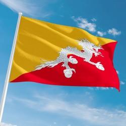 Pavillon Bhoutan drapeau du monde Unic
