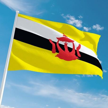 Pavillon Brunei pays du monde Drapeaux Unic