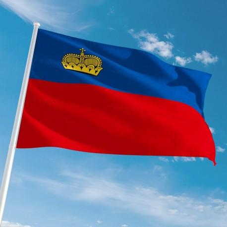 Pavillon Liechtenstein drapeau du monde Unic