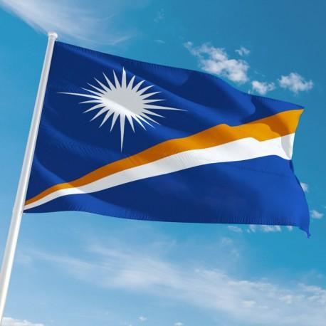 Pavillon Iles Marshall dans drapeau des pays Unic