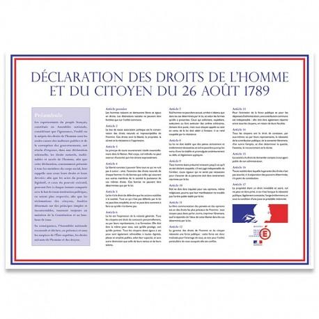 Déclaration des Droits de l'Homme et du Citoyen Drapeaux Unic