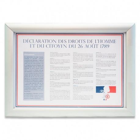 Declaration des Droits de l'Homme et du Citoyen Drapeaux Unic