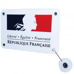Devise de la République Française plaque en aluminium