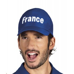Casquette bleue avec écriture France