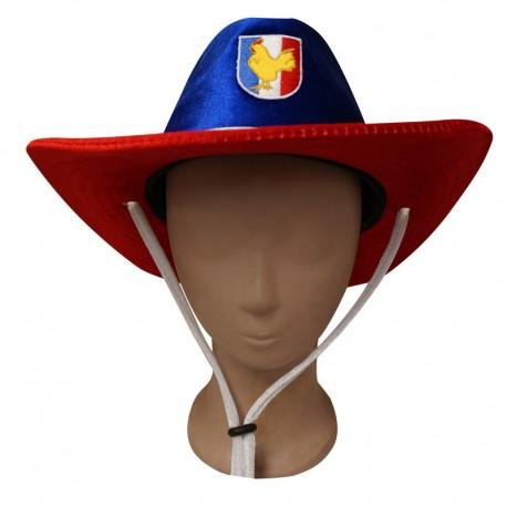Chapeau Cow-Boy France bleu, blanc, rouge