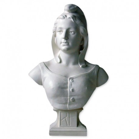 Buste de Marianne 54 cm en platre Drapeaux Unic