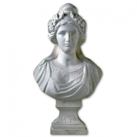 Buste de Marianne 44 cm artisanale Drapeaux Unic