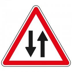 Début d'une circulation à double sens