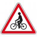 Proximité de débouché de cyclistes