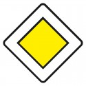 Panneau route prioritaire