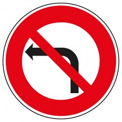 Interdit de tourner à gauche