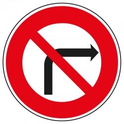 Interdit de tourner à droite