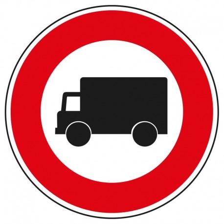 Interdit aux véhicules transportant des marchandises