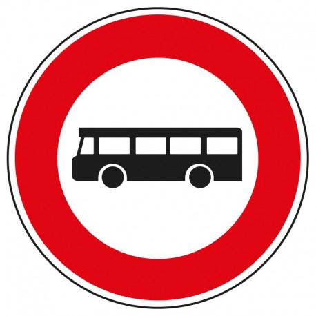 Interdit aux véhicules de transport en commun