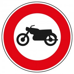 Interdit aux motocyclettes