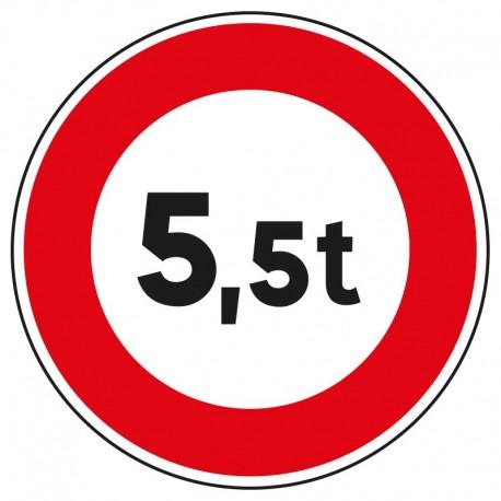 Interdit aux véhicules de plus de 5,5 tonnes