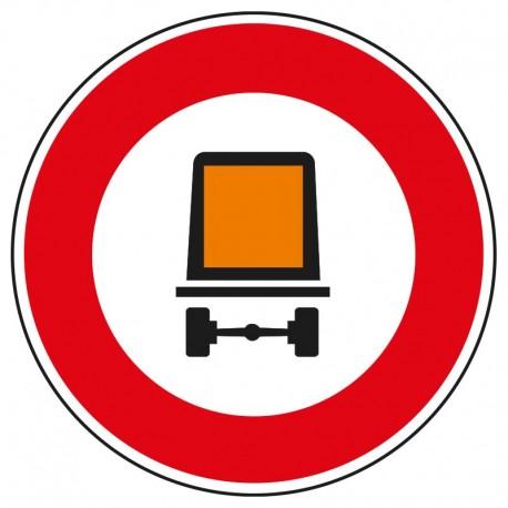 Interdit aux véhicules transportant des matières dangereuses