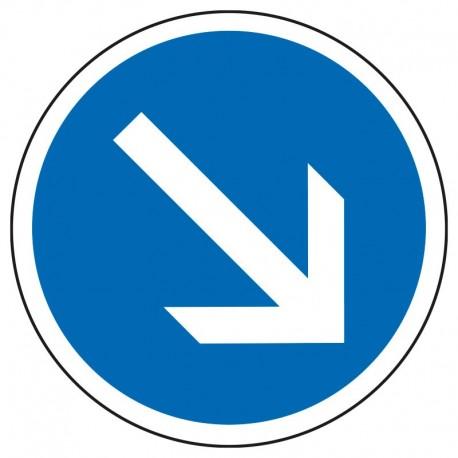Obligation de contourner par la droite