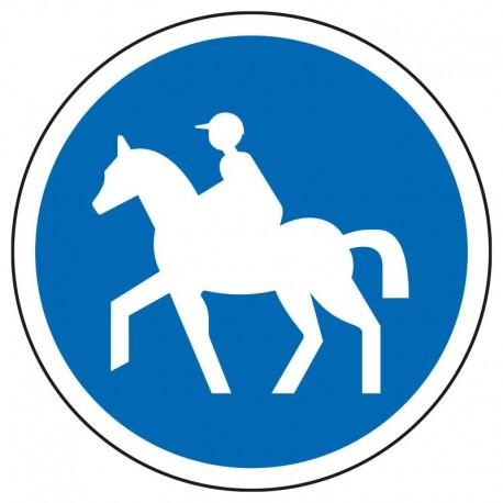 Obligation pour les cavaliers d'emprunter ce chemin
