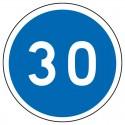 Obligation de circuler au minimum à la vitesse indiquée
