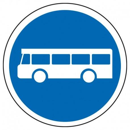 Voie réservée aux véhicules de transport en commun
