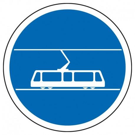 Voie réservée aux tramways