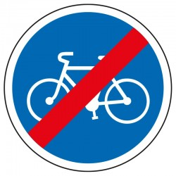 Fin d'une piste cyclable