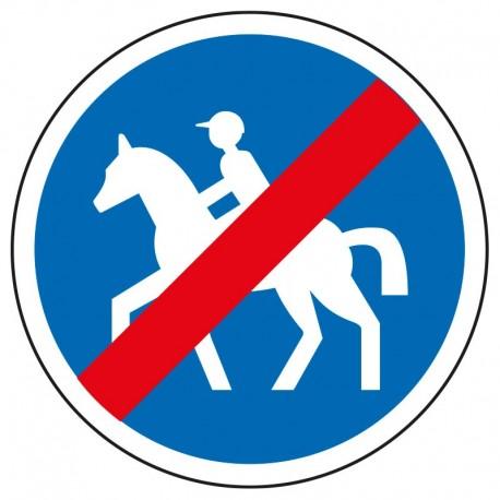 Fin d'un chemin pour chevaux