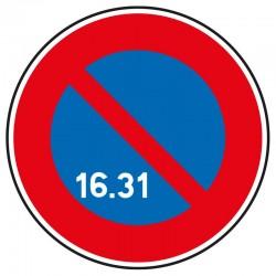 Stationnement interdit du 16 au 31 du mois
