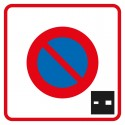 Début de zone à stationnement à durée limitée, contrôlé par disque