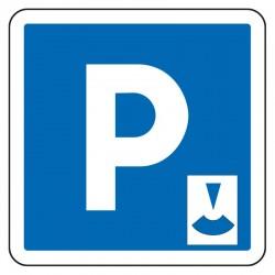 Parking gratuit à durée limitée, contrôlé par disque