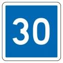Indication de vitesse conseillée