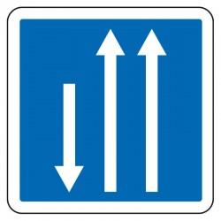 Créneau de dépassement dans le sens de circulation